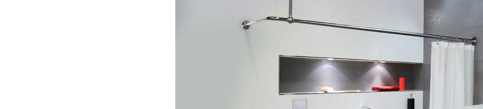 L Shaped Shower Curtain Rails