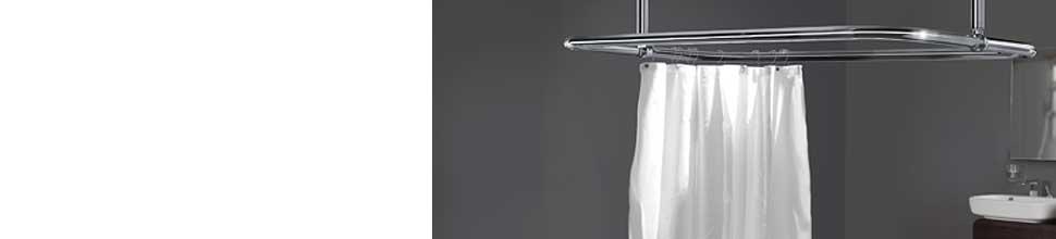 Rectangular Shower Curtain Rails