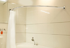 Bath Shower Rail shower curtain rails, just shower rails circular corner l shaped