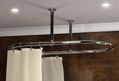 Oval Shower Curtain Rails