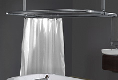 Rectangular Shower Curtain Rails