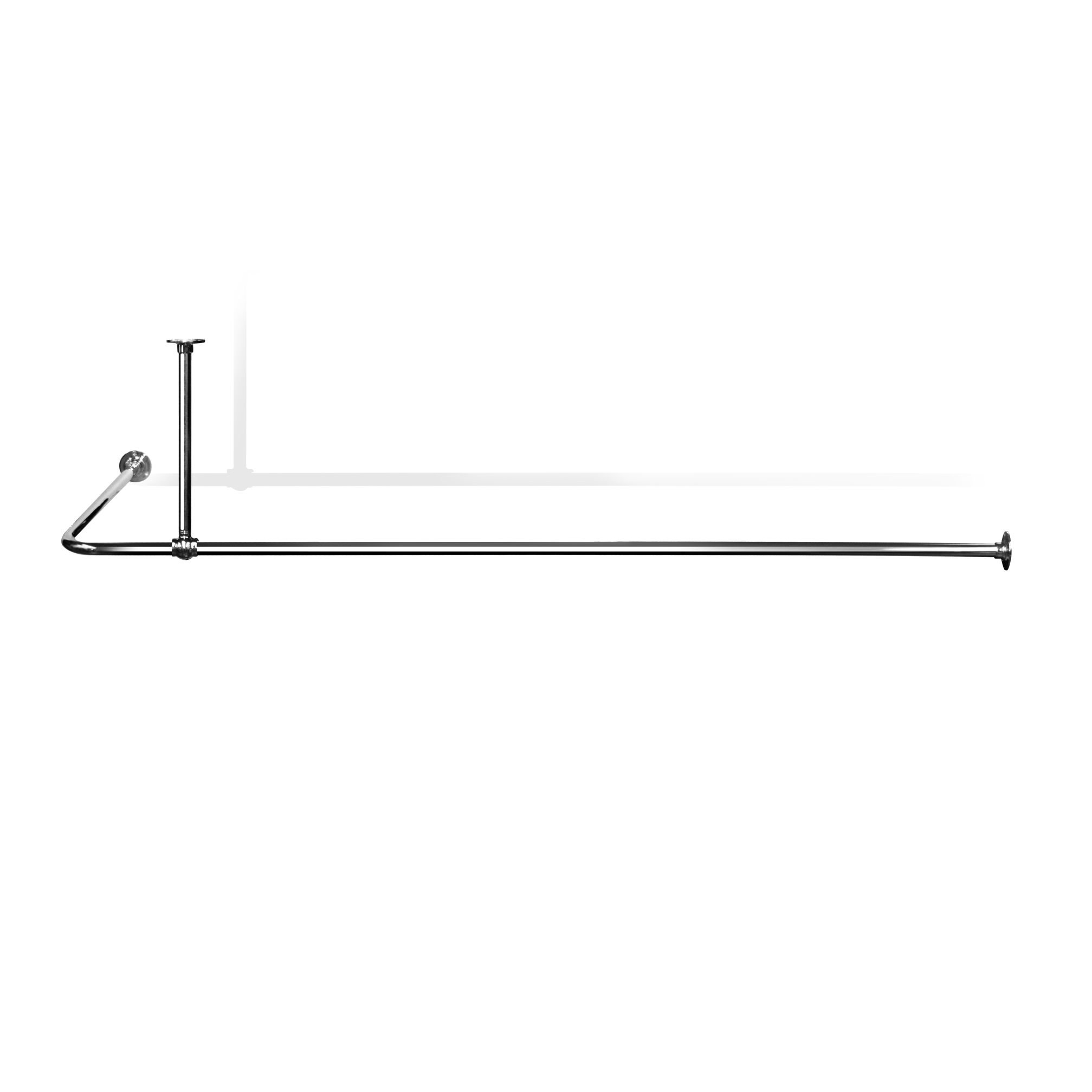 l shaped shower curtain rail lsr2