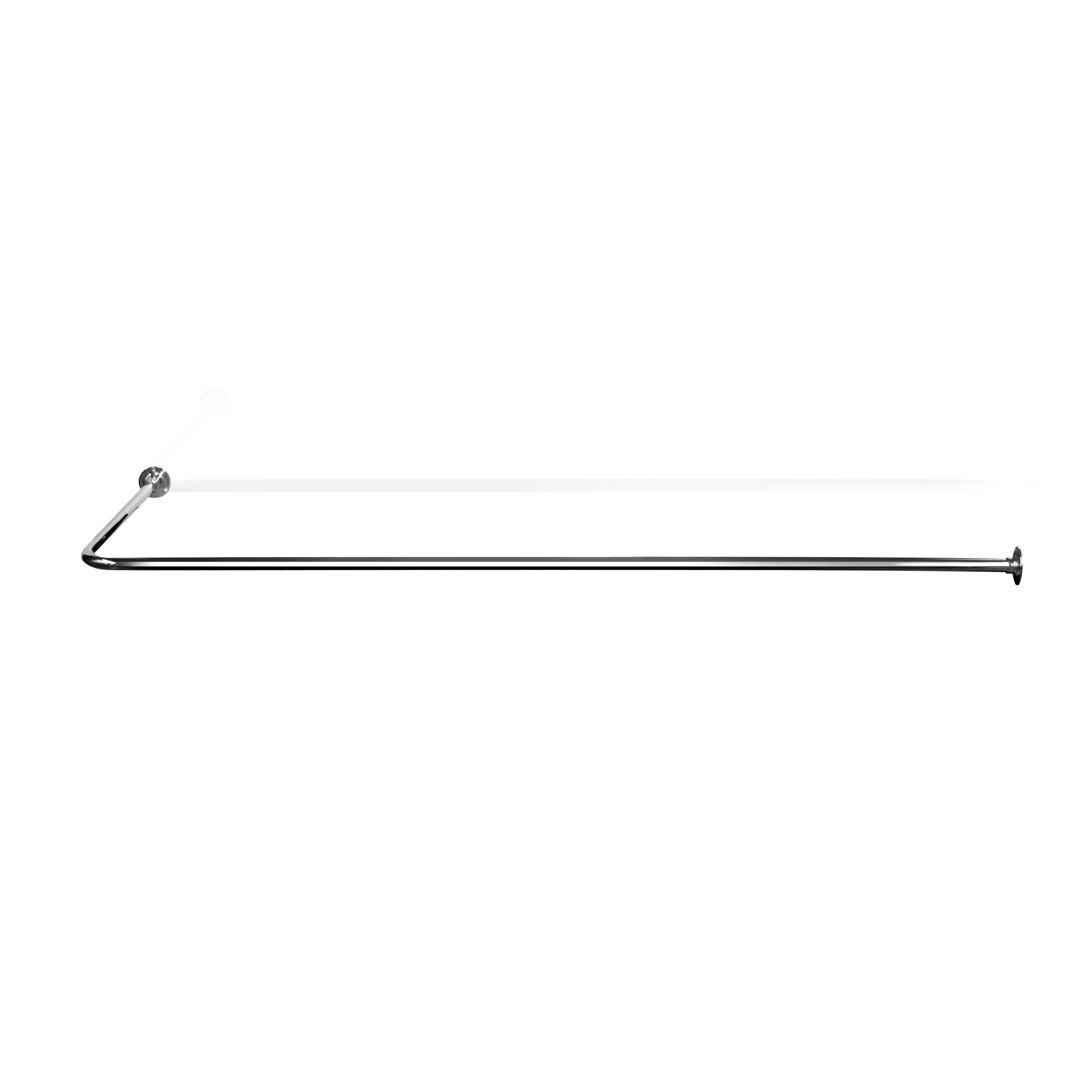 L Shaped Shower Curtain Rail LSR3